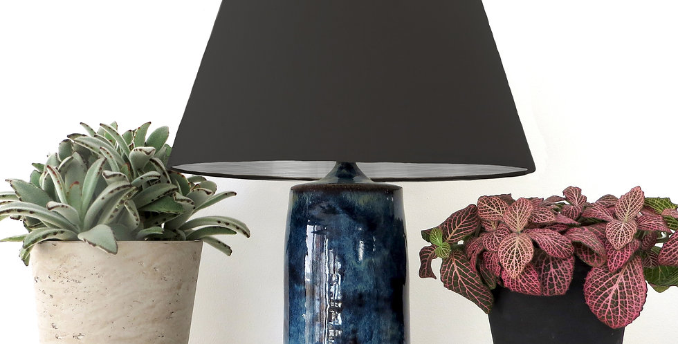 Conical Lampshade (20Tx30Bx20H) - Brushed Silver Lining