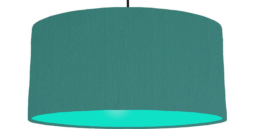 Jade & Turquoise Lampshade - 60cm Wide