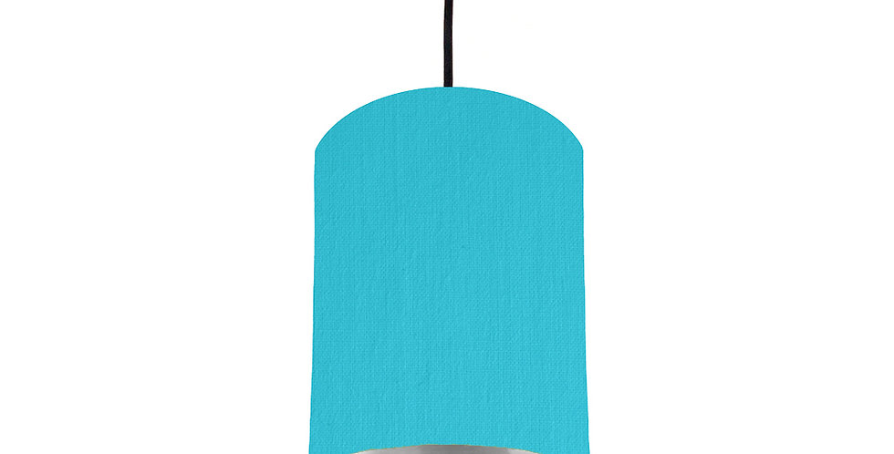 Turquoise & Silver Mirrored Lampshade - 15cm Wide