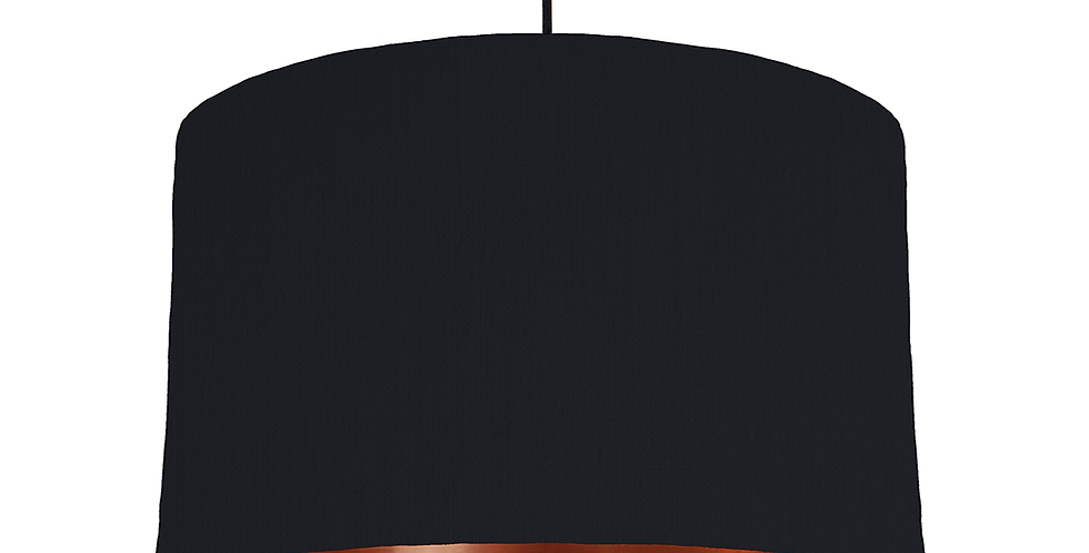 Black & Copper Mirrored Lampshade - 40cm Wide