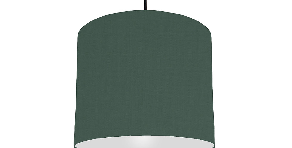 Bottle Green & Light Grey Lampshade - 25cm Wide