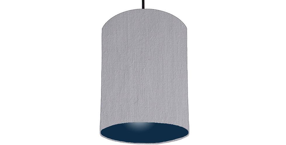 Light Grey & Navy Lampshade - 15cm Wide