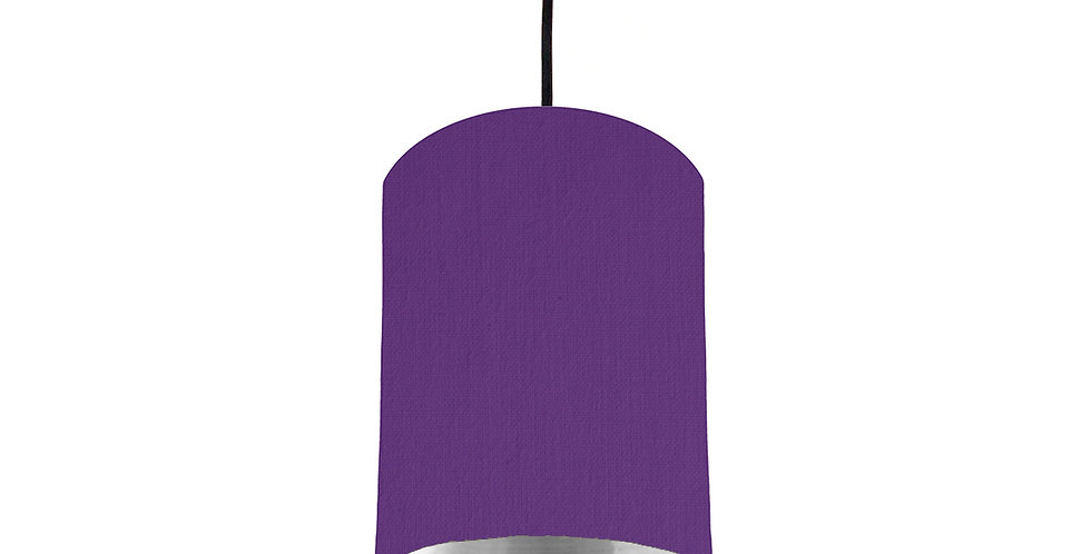 Violet & Silver Mirrored Lampshade - 15cm Wide
