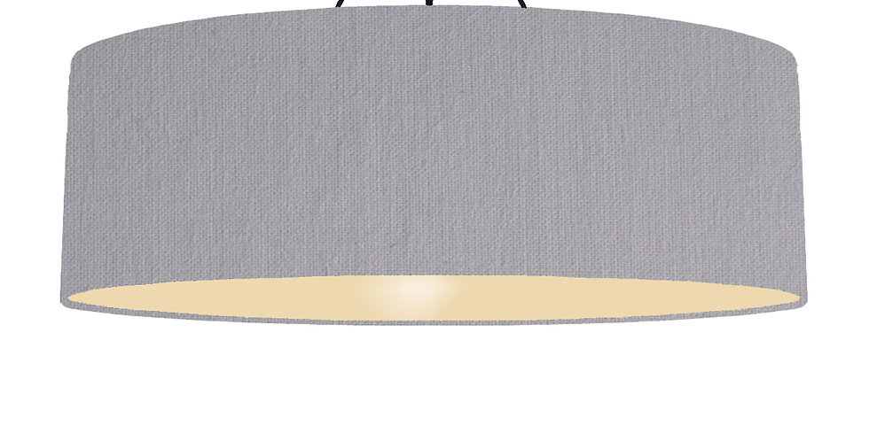Light Grey & Ivory Lampshade - 100cm Wide