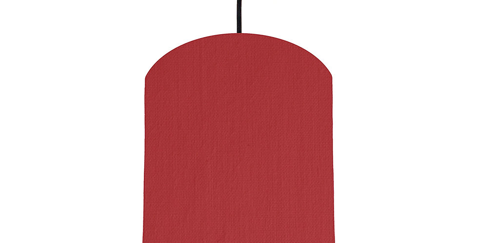 Red & Gold Matt Lampshade- 20cm Wide