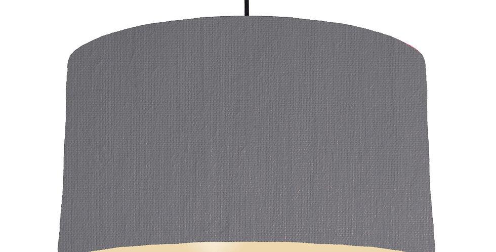 Dark Grey & Ivory Lampshade - 50cm Wide