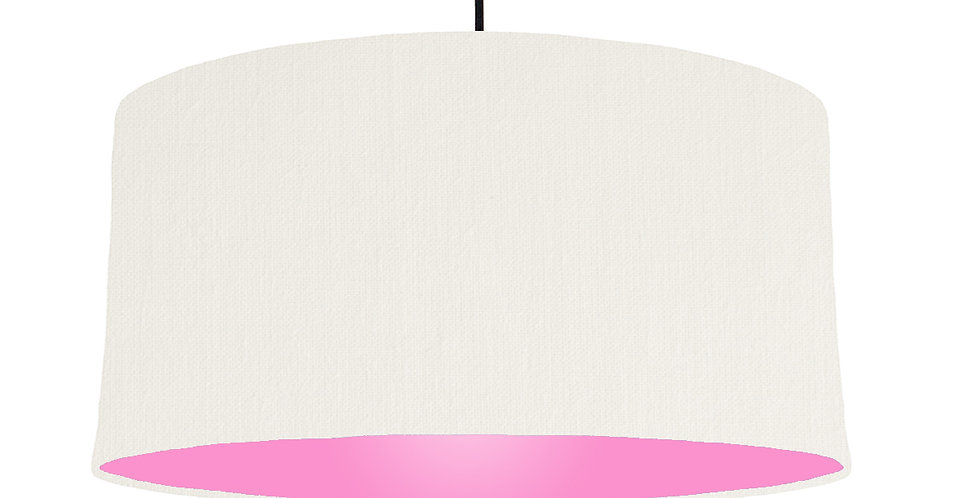White & Pink Lampshade - 60cm Wide