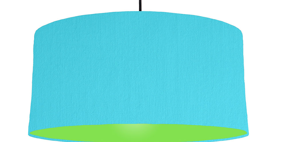 Turquoise & Lime Green Lampshade - 60cm Wide