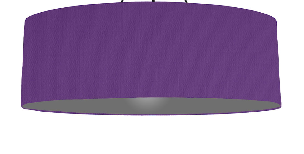 Violet & Dark Grey Lampshade - 100cm Wide