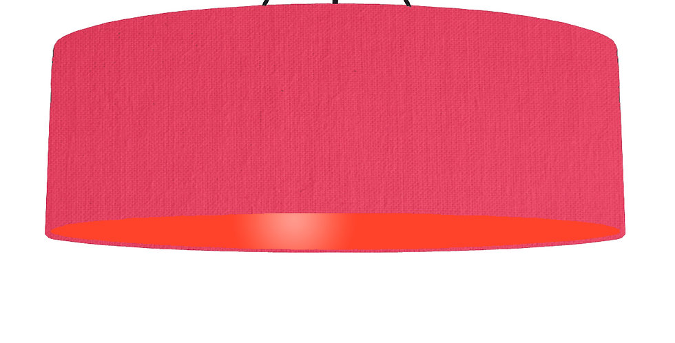 Cerise & Poppy Red Lampshade - 100cm Wide