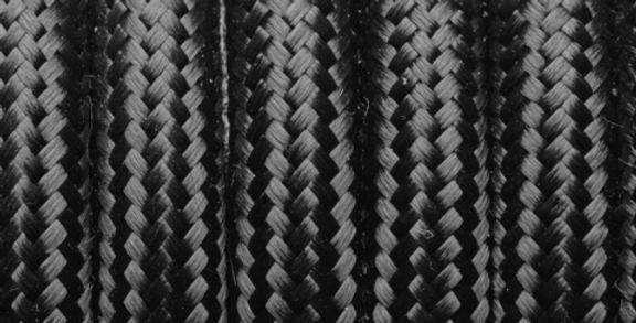 Black - Industville Round Fabric Cable