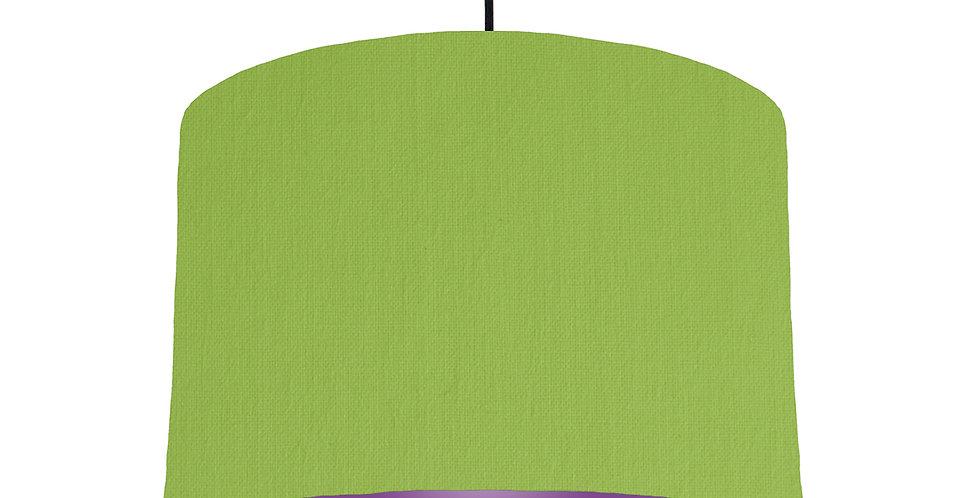 Pistachio & Purple Lampshade - 30cm Wide