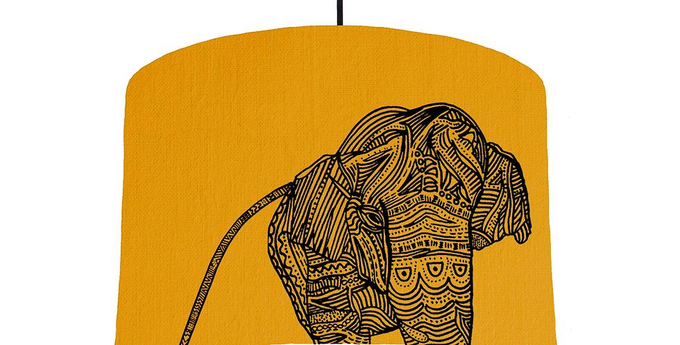 Elephant - Mustard Fabric