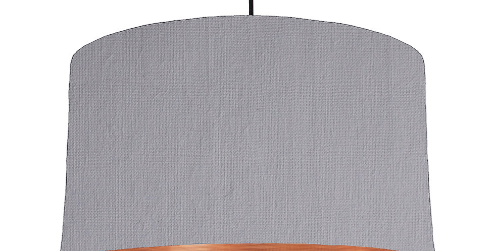 Light Grey & Brushed Copper Lampshade - 50cm Wide