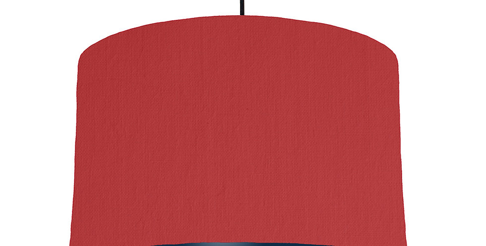 Red & Navy Lampshade - 40cm Wide