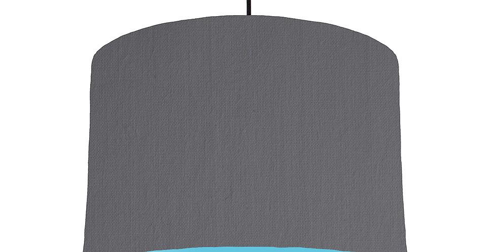 Dark Grey & Light Blue Lampshade - 30cm Wide