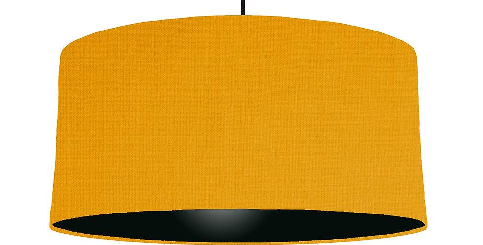 Mustard & Black Lampshade - 60cm Wide