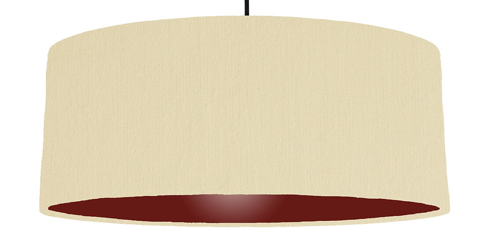 Natural & Burgundy Lampshade - 70cm Wide
