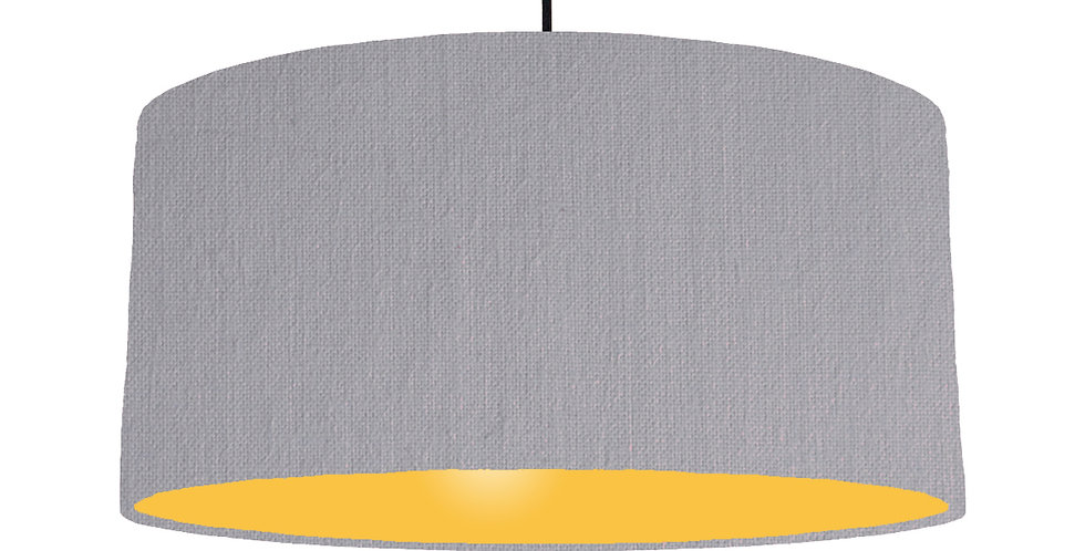 Light Grey & Butter Yellow Lampshade - 60cm Wide