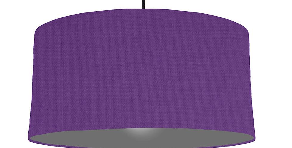 Violet & Dark Grey Lampshade - 60cm Wide