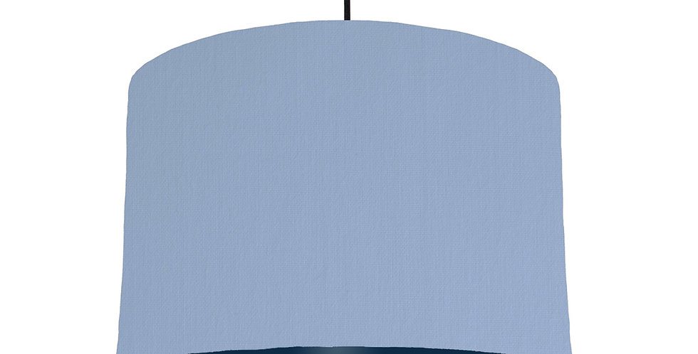 Sky Blue & Navy Lampshade - 30cm Wide