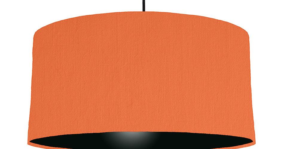 Orange & Black Lampshade - 60cm Wide