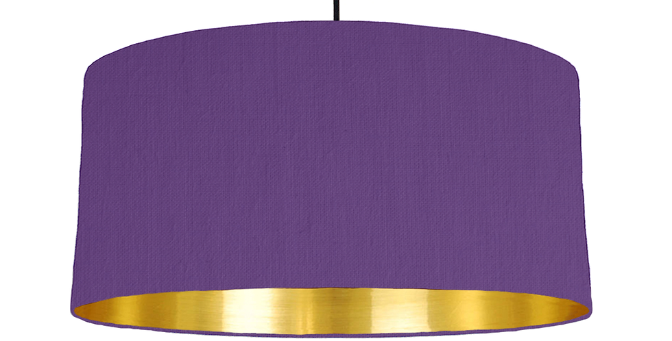 Violet & Gold Mirrored Lampshade - 60cm Wide