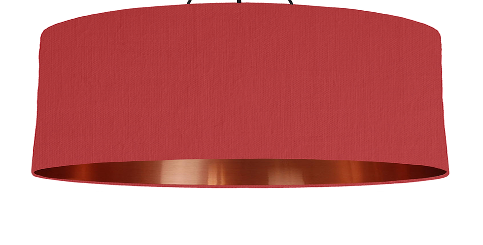 Red & Copper Mirrored Lampshade - 100cm Wide