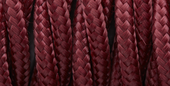 Burgundy - Industville Twisted Fabric Cable