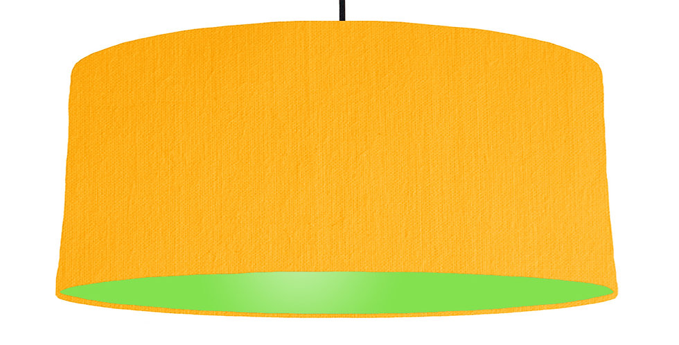 Sunshine & Lime Green Lampshade - 70cm Wide