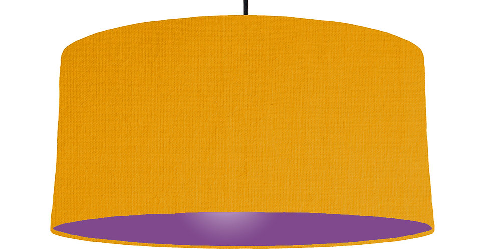 Mustard & Purple Lampshade - 60cm Wide
