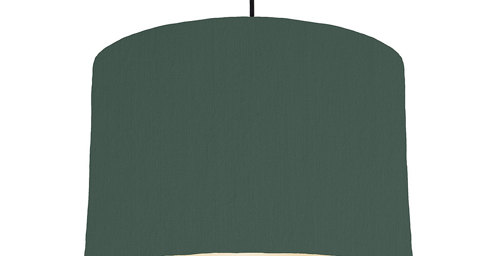 Bottle Green & Ivory Lampshade - 30cm Wide