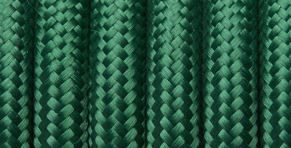 Forest Green - Industville Round Fabric Cable