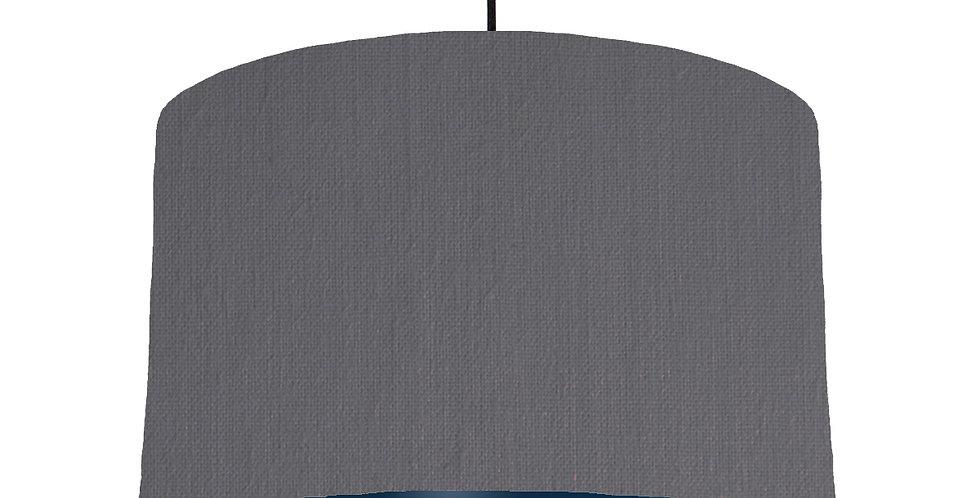 Dark Grey & Navy Lampshade - 40cm Wide