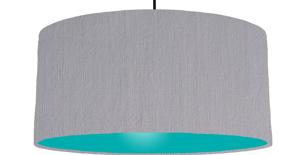 Light Grey & Turquoise Lampshade - 60cm Wide