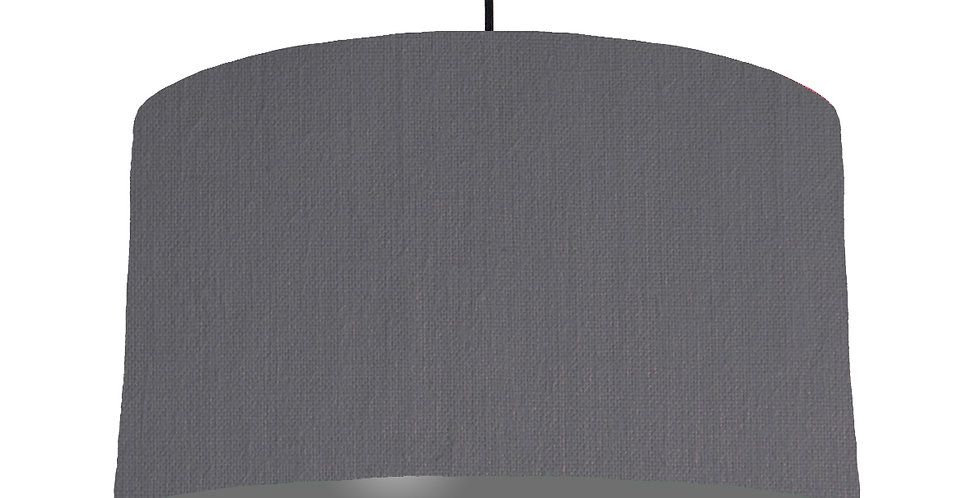 Dark Grey & Dark Grey Lampshade - 50cm Wide