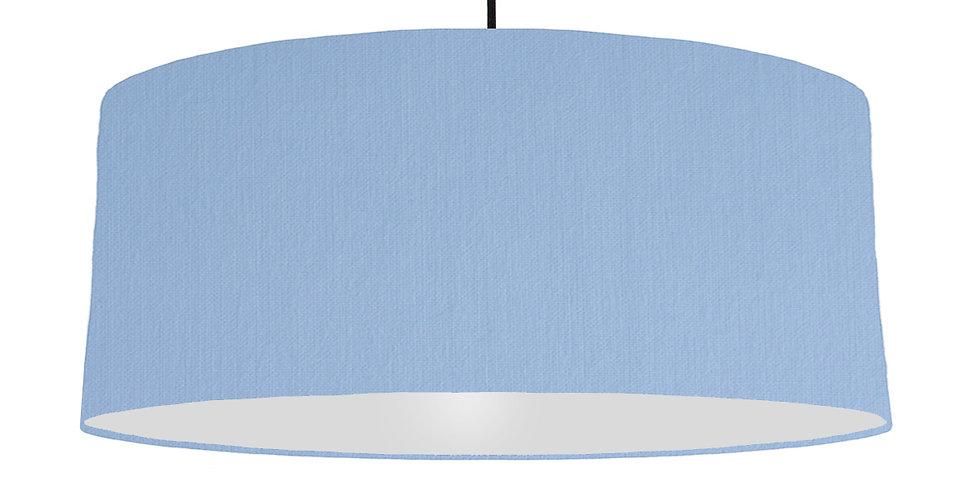 Sky Blue & Light Grey Lampshade - 70cm Wide