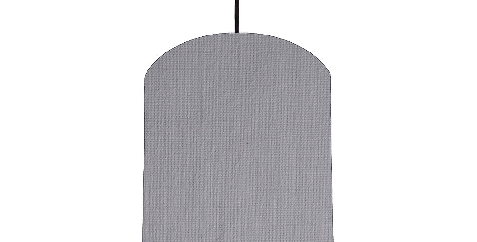 Light Grey & Ivory Lampshade - 20cm Wide