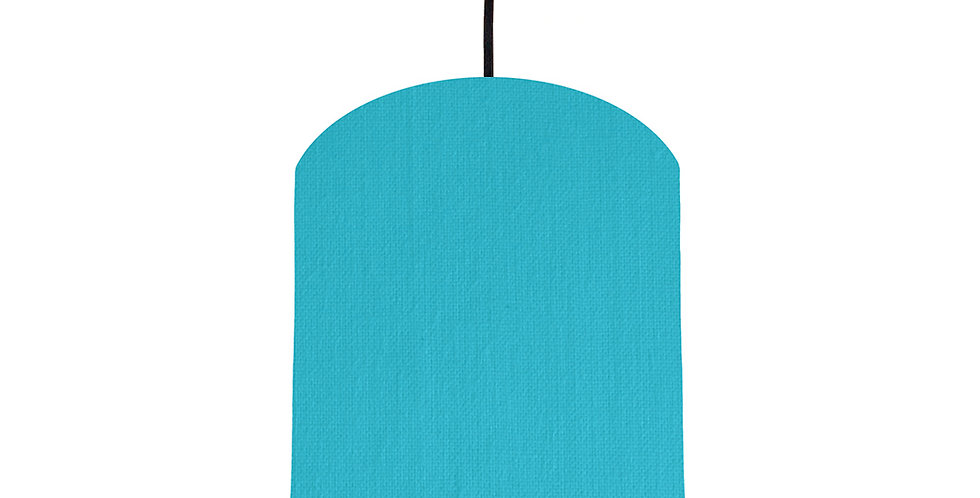 Turquoise & Lime Green Lampshade - 20cm Wide
