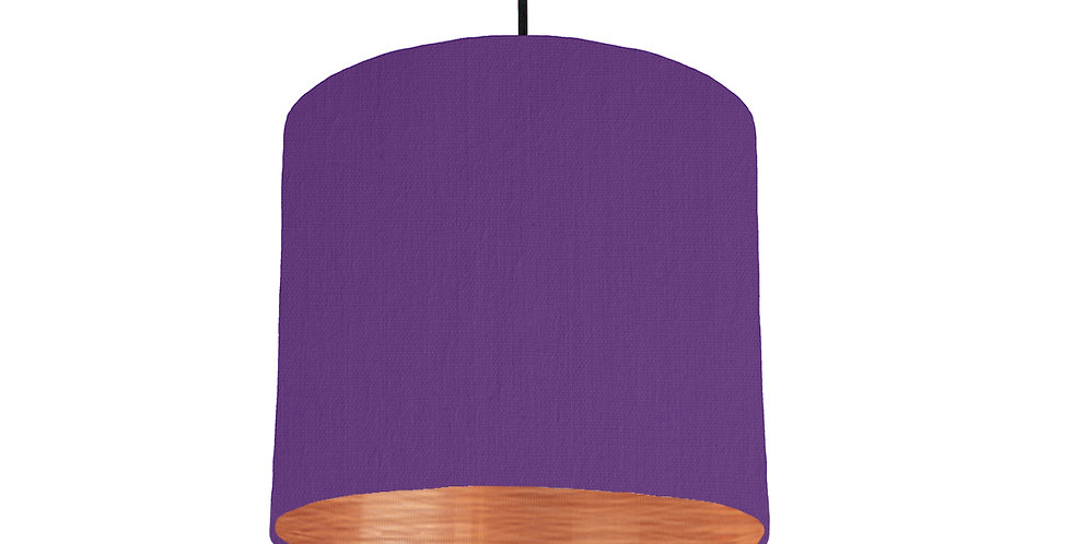 Violet & Brushed Copper Lampshade - 25cm Wide