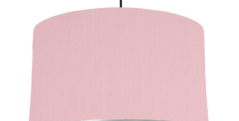 Pink & Brushed Silver Lampshade - 50cm Wide
