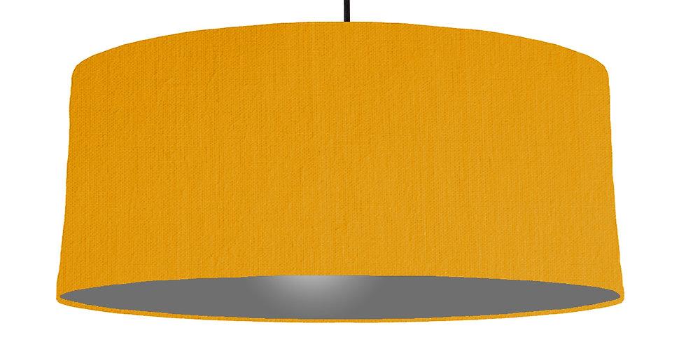 Mustard & Dark Grey Lampshade - 70cm Wide