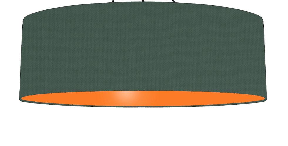 Bottle Green & Orange Lampshade - 100cm Wide