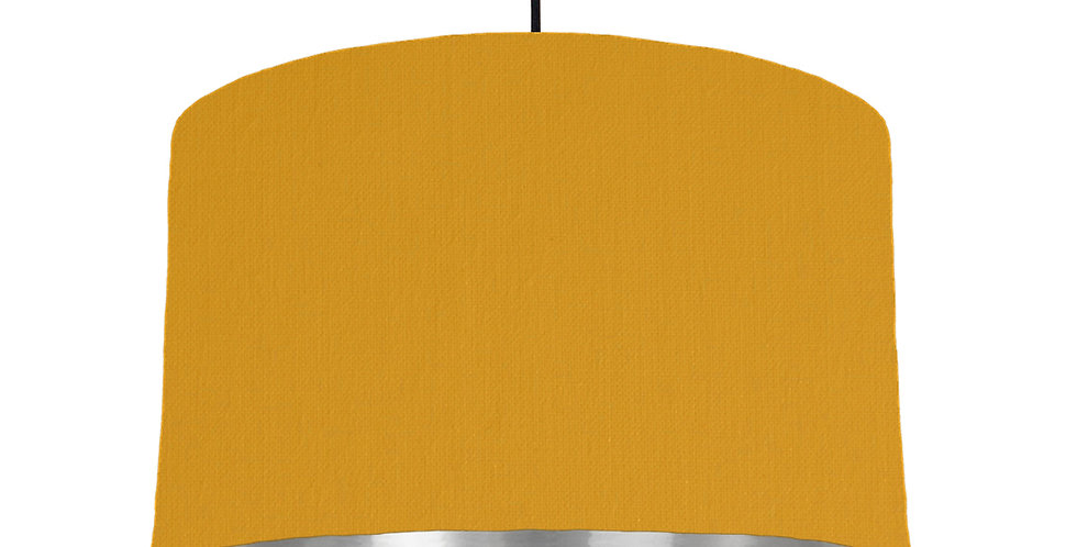 Mustard & Silver Mirrored Lampshade - 40cm Wide