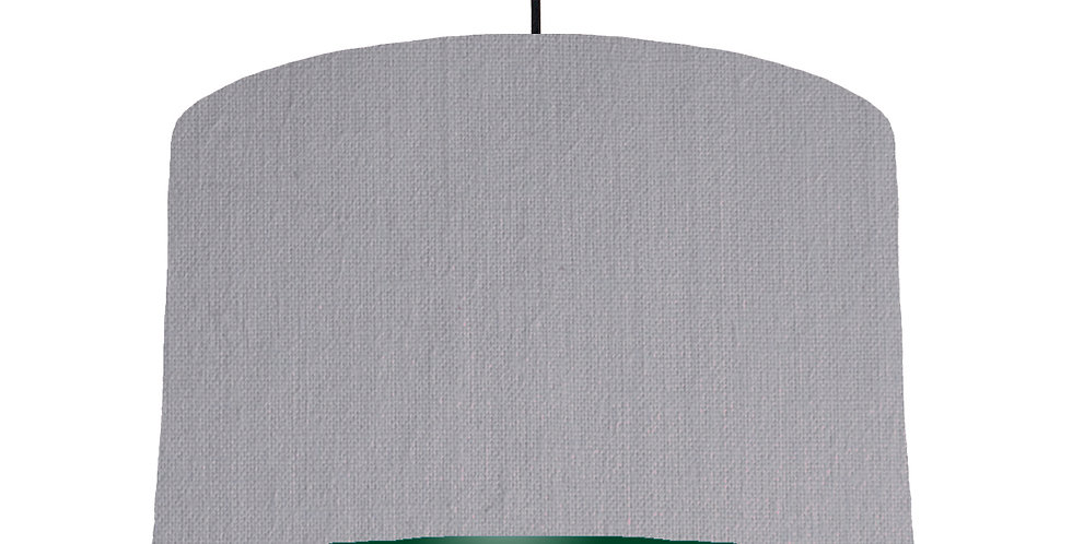 Light Grey & Forest Green Lampshade - 40cm Wide
