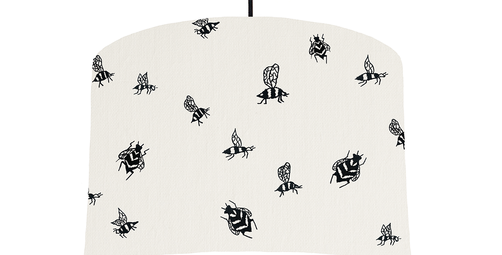 Bumble Bee - White Fabric