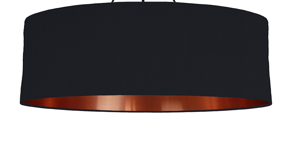 Black & Copper Mirrored Lampshade - 100cm Wide