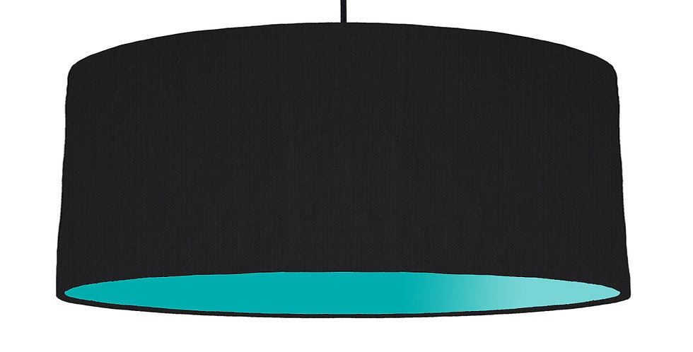 Black & Turquoise Lampshade - 70cm Wide