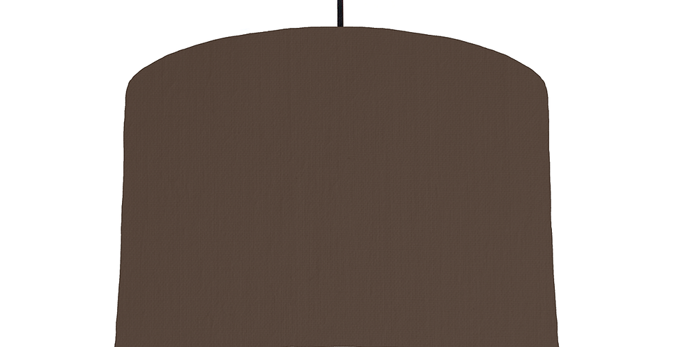 Brown & White Lampshade - 30cm Wide