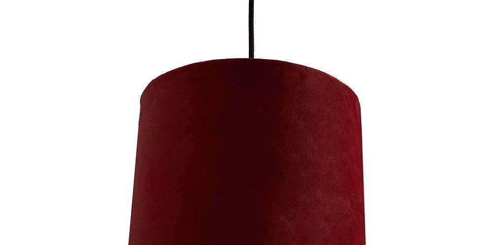 Burgundy Velvet Lampshade